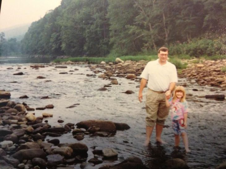 Another memory?  Wading in the Greenbrier River at Cass.